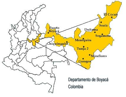 FUNDACION INDEX - Tunja map